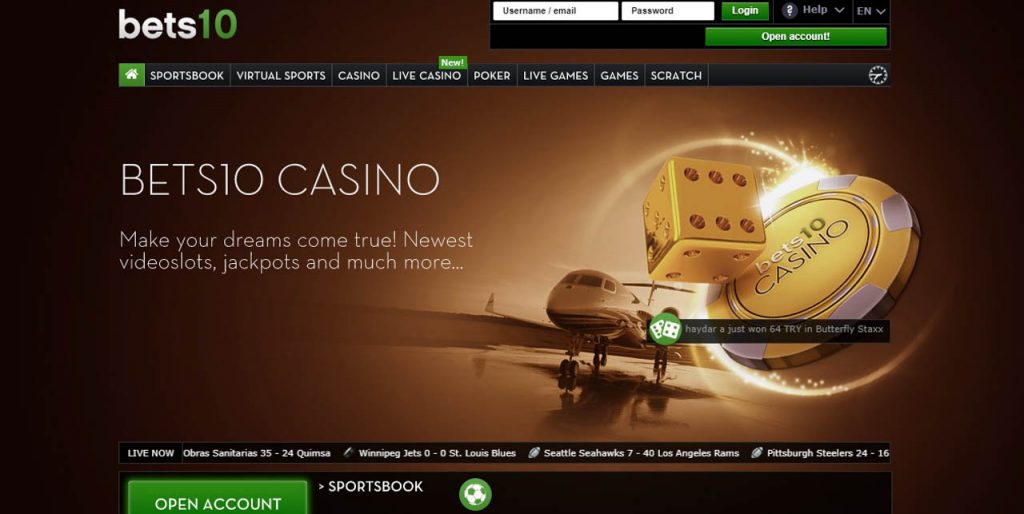 Bets10 Casino Giriş Oyunları